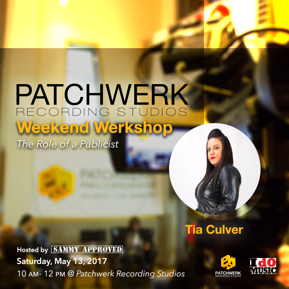 This weekend we have Tia Culver speaking on The Role Of A Publicist!