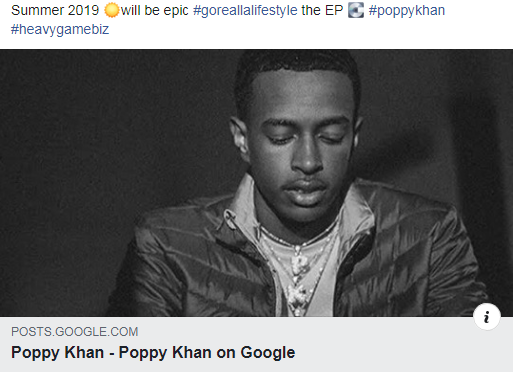 This is going to be a summer that you definitely need something to ride to & Poppy Khan is providing just that 'Go Realla Lifestyle' summer 2019 #goreallalifestyle #poppykhan #heavygamebiz
