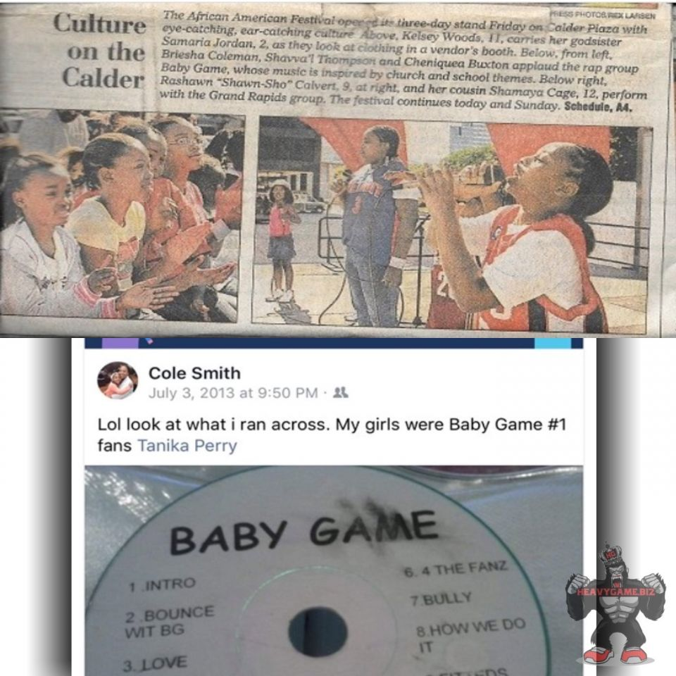 "#TBT When you encourage others, you in the process are encouraged because you're making a commitment & difference ""Baby Game"" music is still available for your kids playlist at: www.heavygame.biz  - #babygame #goreallagrind #heavygamebiz #indielife"