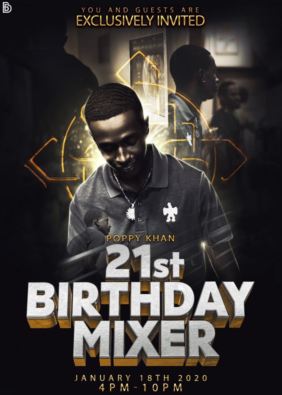 "Poppy Khan celebrates his 21st birthday with a Birthday Mixer. The private event is going down in Atlanta on Saturday, January 18th, 2020. The theme of the party is ""Life Up"" hosted by Heavygame.biz in affiliation with Go Realla Grind"