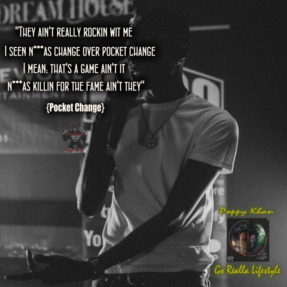 """Poppy Khan hasn't been slacking at all over the past few years. The Michigan native released his first EP """"Go Realla Lifestyle""""available at: www.heavygame.biz - #poppykhan #goreallalifestyle #heavygamebiz"""