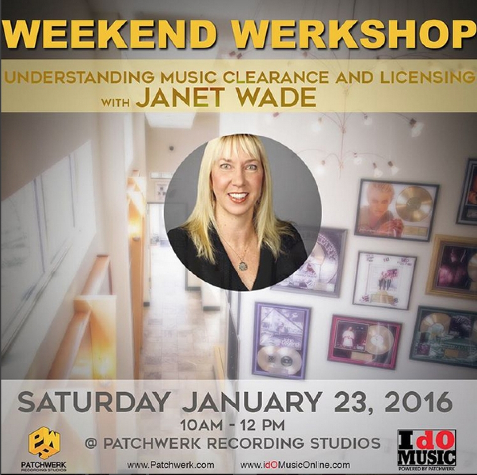 Weekend Werkshop with Janet Wade